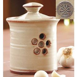 Handmade Stoneware Garlic Pot