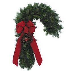 Candy Cane Fresh Wreath