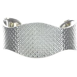 Handcrafted Textured Sterling Silver Cuff