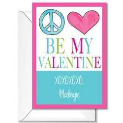 Peace Love Valentine Note Cards
