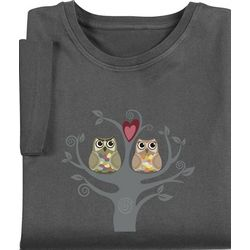 Owls in Love Womens T-Shirt