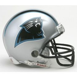 Carolina Panthers Replica Mini Helmet with Face Mask