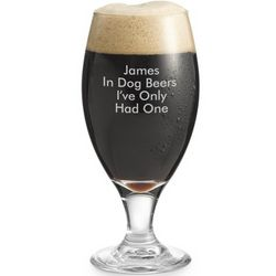 Engravable Porter Beer Glass