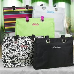 City Style Tote with Embroidered Name