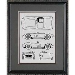 Maserati Blueprint Art Print