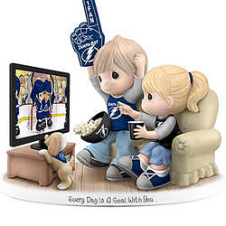 NHL Licensed Precious Moments Tampa Bay Lightning Fan Figurine