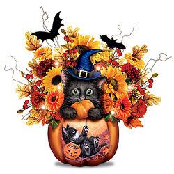 Scaredy Cat Halloween Centerpiece