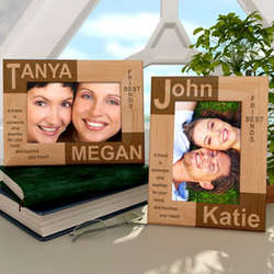 Personalized Best Friends Wooden Picture Frame