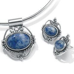 2-Piece Simulated Blue Lapis Set