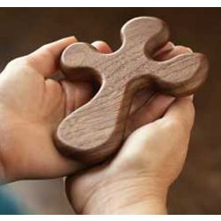 PalmCross of Hand Carved Wood
