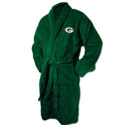Green Bay Packers Logo Bathrobe in Hunter Green
