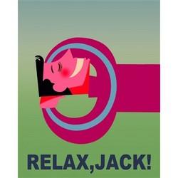 Relax Jack! Premium Luster Print