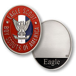Eagle Scout Engraved Coin