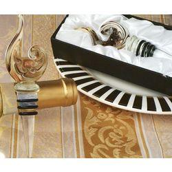 """Murano Art Deco"" Collection Gold Wine Stopper"