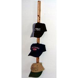 Single Wooden Baseball Cap Rack