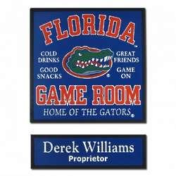 Florida Game Room Football Sign