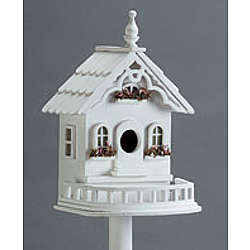 Wood Victorian Birdhouse on Stand