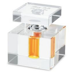 Engravable Square Perfume Bottle