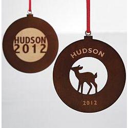 Personalized Circle Designs Wooden Ornament