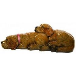 Yellow Puppies Sweet Dreams Stonecast Sculpture