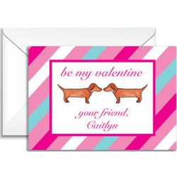 Hot Dog Personalized Valentine's Day Note Cards