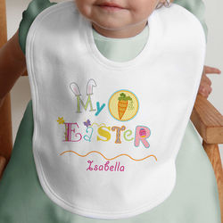 Personalized My First Easter Baby Bib