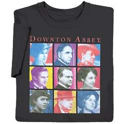 Downton Abbey Characters Pop-Art T-Shirt