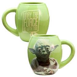 Star Wars Yoda Ceramic Oval Mug