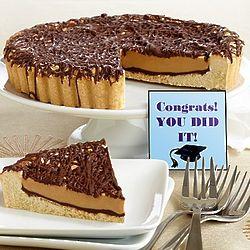 Congrats Grad Peanut Butter Cup Cookie Pie