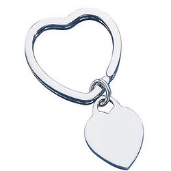 Sterling Silver Heart Key Ring