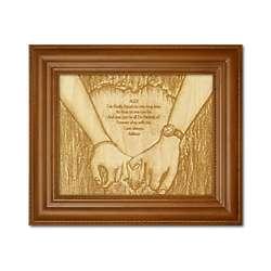 Wood Engraved True Love Print