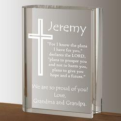 Inspirational Crystal Bible Plaque