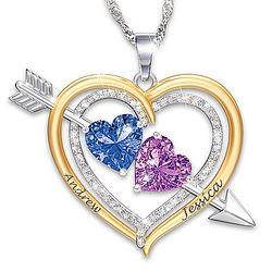 Personalized Love Struck Birthstone Pendant