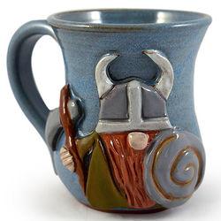 Stoneware Pottery Viking Mug