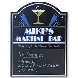 Personalized Martini Bar Chalkboard