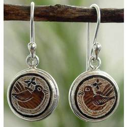Quiet Sparrows Mate Gourd Earrings