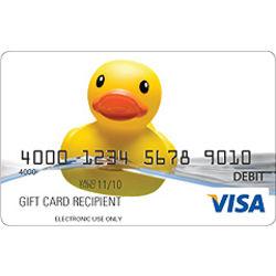 Rubber Ducky Visa Gift Card