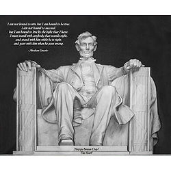 Personalized Lincoln Quote Print