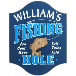 The Fishing Hole Personalized Pub Sign