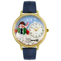 Christmas Snowman Watch with Miniatures