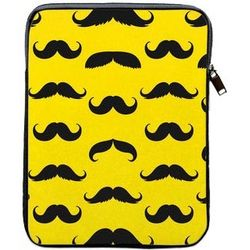 Mustache Covered YellowTablet Sleeve Case