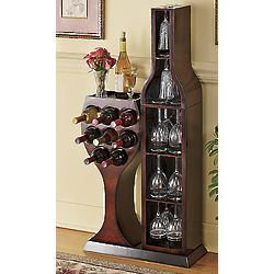 Conversation Piece Wine Bottle and Wine Glass Rack