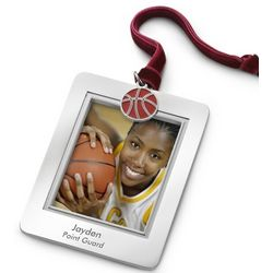 Photo Picture Frame Ornament with Basketball Charm