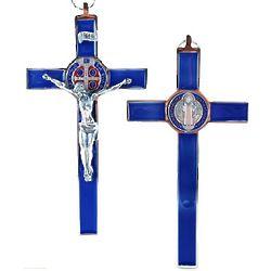 St. Benedict Blue Enamel Crucifix