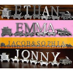 Personalized Pewter Baby Expression Train