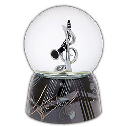 Clarinet Musical Water Globe