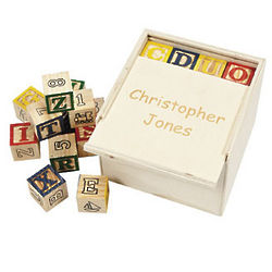 Personalized Box with Alphabet Blocks