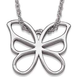 Silver Plated Butterfly Necklace