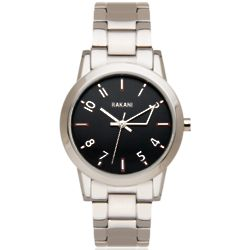 +5 Black with Stainless Steel Watch