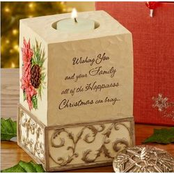 Happiness at Christmas Candle